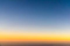 Flygbild av havsolnedgången Royaltyfria Foton