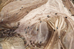 Flygbild av jordvallen Royaltyfri Fotografi
