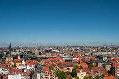 Flygbild av Köpenhamnen Arkivfoton