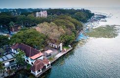 Flygbild av Kochi i Indien Arkivfoton
