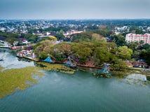 Flygbild av Kochi i Indien Arkivbild