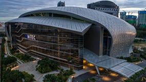Flygbild av MITEC, Malaysia Royaltyfria Bilder