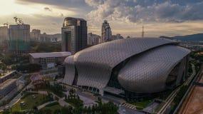 Flygbild av MITEC, Malaysia Royaltyfri Bild