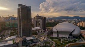 Flygbild av MITEC, Malaysia Royaltyfria Foton