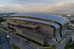 Flygbild av MITEC, Malaysia arkivbild