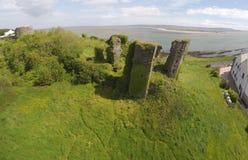Flygbild av Redcastle Co Donegal, Irland 2017 arkivfoto