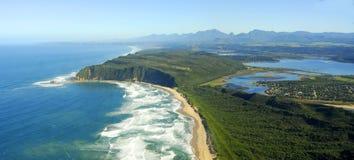 Flygbild av Sedgefield, trädgårds- rutt, Sydafrika Arkivbilder