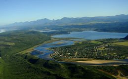 Flygbild av Sedgefield, trädgårds- rutt, Sydafrika Royaltyfria Bilder