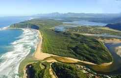 Flygbild av Sedgefield, trädgårds- rutt, Sydafrika Arkivfoton