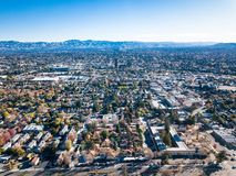 Flygbild av Silicon Valley i Kalifornien Arkivfoton