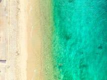 Flygbild av Sydney - hajstrand royaltyfria foton