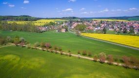 Flygbild av västra bohemia bygd Royaltyfria Bilder
