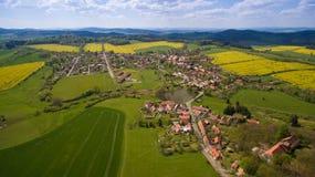 Flygbild av västra bohemia bygd Royaltyfri Foto