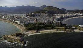 Flygbild från Rio de Janeiro Arkivbilder