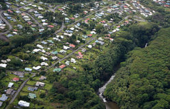 Flygbild Hawaii, USA Royaltyfri Bild