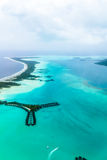 Flygbild taget I franska Polynesien Royaltyfri Foto