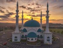 Flygbildsikt av Masjid Sultan Iskandar Arkivbilder