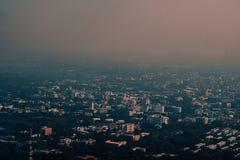 Flygbildstorstad Chiangmai norr Thailand Royaltyfria Bilder