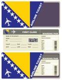 Flygbiljetter till Bosnien och Hercegovina vektor illustrationer