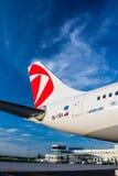 Flygbolag för tjeck A330 Fotografering för Bildbyråer
