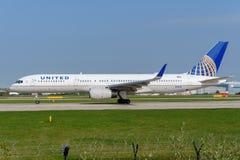 757 flygbolag förenade boeing Arkivfoto