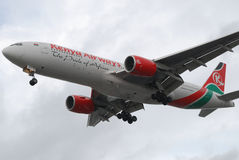 flygbolag kenya Royaltyfri Fotografi