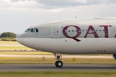 a330 flygbolag qatar Royaltyfri Bild