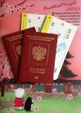 flygbolagbiljetter Royaltyfri Bild