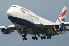 flygbolagbritish jumbo Royaltyfri Foto