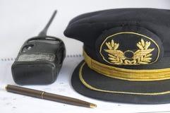 flygbolaghattpilot Fotografering för Bildbyråer