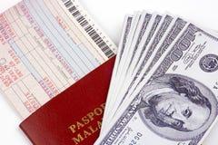 flygbolagpengarjobbanvisning arkivbild