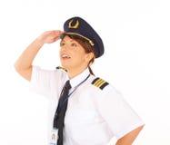 flygbolagpilot Arkivfoton