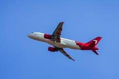 Flygbuss A320 Arkivfoto