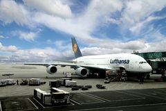 Flygbuss A380 Royaltyfria Foton