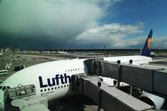 Flygbuss A380 Arkivfoto
