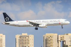 Flygbuss A320 av tk royaltyfria foton