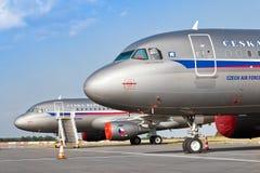 Flygbuss A319-115X CJ, tjeckiskt flygvapen/Vaclav Havel International Airport, Ruzyne, Prague, Tjeckien arkivfoto