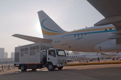 Flygbuss en affärsstråle för 318 elit Royaltyfri Bild
