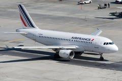 Flygbuss A319-111 för F-GRHH Air France Arkivbild