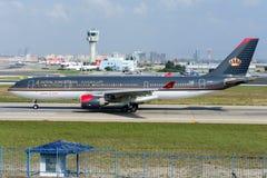 Flygbuss A330-223 för JY-AIF Royal Jordanian Airlines Arkivbild