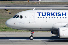 Flygbuss A319-132 för TC-JLV Turkish Airlines  Royaltyfria Foton