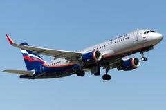 Flygbuss A320-214 för VQ-BSI Aeroflot Royaltyfri Fotografi