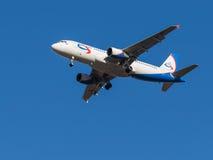 Flygbuss A320, flygbolag Ural Airlines Royaltyfria Bilder