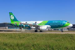 Flygbuss A320 från Aer Lingus arkivfoton