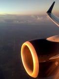 Flygbuss a320 Jet Engine Fotografering för Bildbyråer