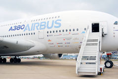 Flygbuss A380 på MAKS-2013 Arkivfoton