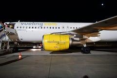 flygbuss som a320 vueling Fotografering för Bildbyråer