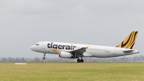 Flygbuss A320 Tiger Airways Australia Royaltyfri Bild