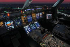 Flygbusscockpit Royaltyfria Bilder
