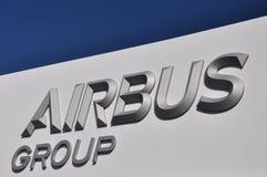 Flygbussgruppen lyftte logomärkestitlar royaltyfri bild